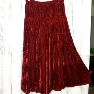 Double D Ranch Wear crushed velvet maxi skirt